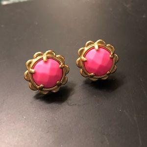 pink kate spade earrings !!